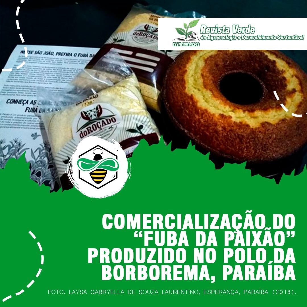 """Estratégias de comercialização do """"Fubá da Paixão"""" produzido no Polo da Borborema, Paraíba"""
